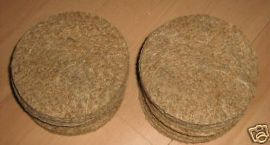 12 x CANARY JUTE NEST PAN QUALITY FELTS - BREEDING